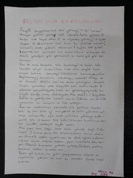 Peygamber Efendimize Mektup Yazma Etkinliği Düzenlendi Gazi Imam